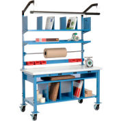 Complete Mobile Electric Packing Workbench Plastic Safety Edge - 72 x 30
