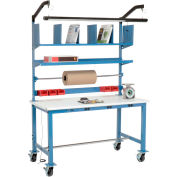 Mobile Electronic Packing Workbench ESD Safety Edge - 60 x 30 with Riser Kit