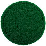 """13"""" Green Scrub Brush Alternative Scrubbing Pad - 4 Per Case"""