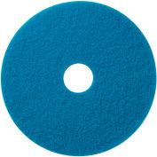 """Global Industrial™ 18"""" Blue Scrubbing Pad - 5 Per Case"""