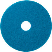 """Global Industrial™ 18"""" Scrubbing Pad, Blue, 5 Per Case"""