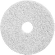"Diamond Polishing 18"" White 800 Grit Deep Cleaning Pad - 2 Per Case"