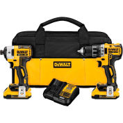DeWALT DCK283D2 20V MAX XR Li-Ion Brushless Drill/Impact Combo Kit 2 Batteries 2.0Ah Charger Bag