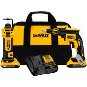 DeWALT DCK263D2 20V MAX XR Li-Ion Cordless Drywall Screwgun/Cut-out  Tool Combo Kit 2.0Ah