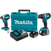 Makita XT269M 18V Brushless Cordless Hammer Drill & Impact Driver Combo Kit 4.0Ah