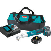 "Makita XLT01 18V LXT Li-Ion 1/4"" Cordless Angle Impact Driver Kit 2 Batteries 3.0Ah Charger Tool Bag"