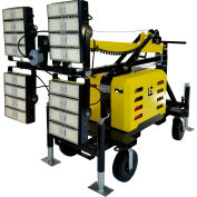 Lind Equipment LE980LED-T4 LED Portable Light Tower, 4-200W, 4-30000 L, 18', works w/most generators