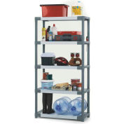 "Grosfillex® US028009 Plastic Solid Shelving 36""W x 16""D x 70""H Capacity 200 lbs"