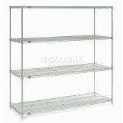 "Nexelate Wire Shelving, 72""W X 36""D X 74""H"