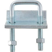 "Global Industrial 1-5/8"" X 3-3/8"" Beam Clamp P2785eg, Electro-Galvanized - Pkg Qty 5"