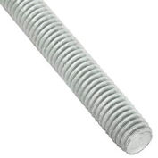 Global Industrial 3/8-16 x 6 feet, Threaded Rod - Zinc Plated Carbon Steel - Pkg Qty 6