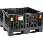 Plastic Folding Bulk Shipping Container BC4844-27 1500 lb. Capacity 48 x 44-1/2 x 27