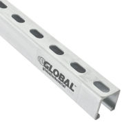 "8Ft Slotted Strut Channel qty 4,  1-5/8"" X 1-5/8"" , 12 Gauge, Pre-Galvanized Zinc Plated - Pkg Qty 4"