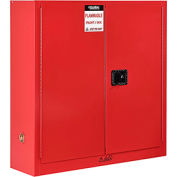 "Global™ Paint & Ink Storage Cabinet - 24 Gallon - Manual Close 43""W x 12""D x 44""H"