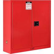"Global™ Paint & Ink Storage Cabinet - 24 Gallon - Manual Close 43""W x 12""D x 44""H"