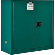 "Global™ Pesticide Storage Cabinet - 30 Gallon - Manual Close 43""W x 18""D x 44""H"