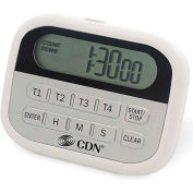 CDN, PT2, 4-Event Timer and Clock, White