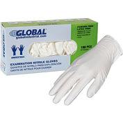 Global Industrial™ Nitrile Gloves, Exam Grade, Powder Free, White, 3 MIL, 100/Box, Large