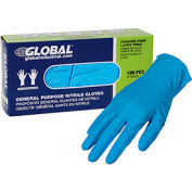 Global Industrial™ Nitrile Gloves, Industrial Grade, Powder Free, Blue, 4 MIL,100/Box, X-Large