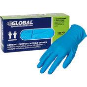 Global Industrial™ Nitrile Gloves, Industrial Grade, Powder Free, Blue, 4 MIL,100/Box, X-Large