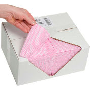 "Global Industrial™ Food Service Towels, Pink, 13"" x 20"", 200/Case"