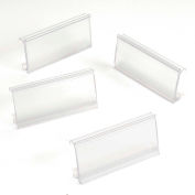 "Clear Label Holder for Wire Shelf 1-1/4""H x 3""W with Paper Insert  (25 Pc)"