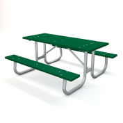 "72"" Recycled Plastic Picnic Table - Green"