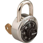 Master Lock® 1525STK Combination Padlock Key Access with 1 Control Key & Chart, Price Each - Pkg Qty 50
