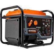 Generac® 7128, 3000 Watts, Open Frame Inverter Generator, Gasoline, Recoil Start, 120V