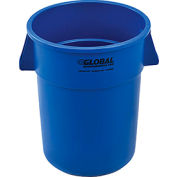 Global Industrial™ Plastic Trash Container, Garbage Can - 55 Gallon Blue