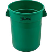 Global Industrial™ Plastic Trash Container, Garbage Can - 32 Gallon Green