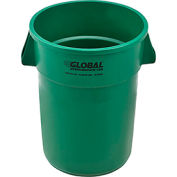 Global Industrial™ Plastic Trash Container, Garbage Can - 44 Gallon Green