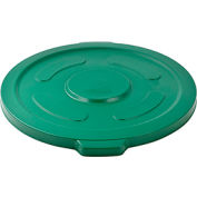 Global Industrial™ Plastic Trash Container, Garbage Can Lid - 55 Gallon Green