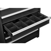 "Dividers for 6""H Drawer of Global™ Modular Drawer Cabinet 36""Wx24""D, Black"