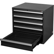 "Global™ Modular Drawer Cabinet, 5 Drawers, w/Lock w/o Dividers 30""Wx27""Dx29-1/2""H Black"