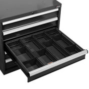 "Divider Kit for 6""H Drawer of Global™ Modular Drawer Cabinet 30""Wx27""D, Black"