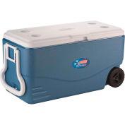 Coleman XTREME® 5, 6201A748, Wheeled Cooler, 100 Qt., Blue/White, Polypropylene