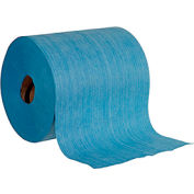 Global Industrial™ Quick Rags® Heavy Duty Jumbo Roll, Blue, 475 Sheets/Roll, 1 Roll/Case