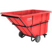 Deluxe Red Extra Heavy Duty Plastic Tilt Truck 1-1/2 Cu. Yard