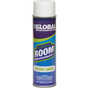 Global Industrial Air Freshener, Fresh Linen 15 oz. Can, 12 Refills/Case