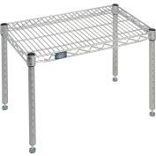 """Nexelate™ Silver Epoxy Wire Dunnage Rack - 24""""W x 14""""D x 14""""H"""