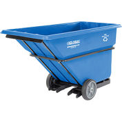 Deluxe Recycling Extra Heavy Duty Plastic Forkliftable Tilt Truck 1 Cu. Yard