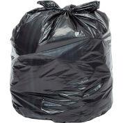 Global Industrial™ Light Duty Black Trash Bags - 7 to 10 Gal, 0.23 Mil, 1000 Bags/Case