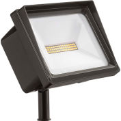 Lithonia QTE LED P3 40K 120 THK DDB LED Flood, 66W, 120V, 6750 Lumens, 4000K, Knuckle, Dark Bronze