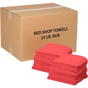Global Industrial™ 100% Cotton Red Shop Towels, 25 Lb. Box