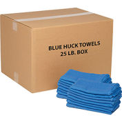 Global Industrial™ 100% Cotton Blue Huck Towels, 25 Lb. Box