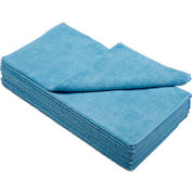 "Global Industrial™ 300 GSM Microfiber Cleaning Cloths, 16"" x 16"", Blue, 12 Cloths/Pack"