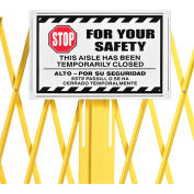 Steel Portable Barricade Gate Replacement Sign, Aluminum, For 652923