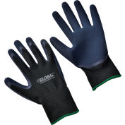 Global™ Double Foam Latex Coated Gloves, Black/Navy, Medium, 1-Pair - Pkg Qty 12