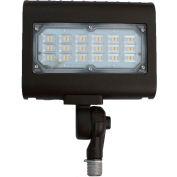 Commercial LED CLF4-30P5KNBR LED Flood Light, 30W, 3900 Lumens, 5000K, Knuckle Mnt, Bronze, DLC 5.0